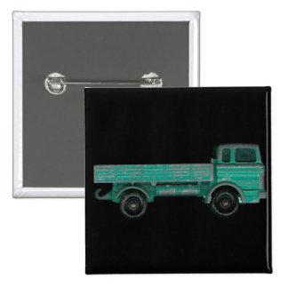 Juegue el plano del vintage de la foto del camión  pin cuadrado
