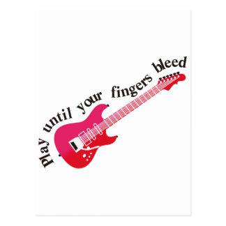 Juegue hasta que sus dedos sangren tarjeta postal