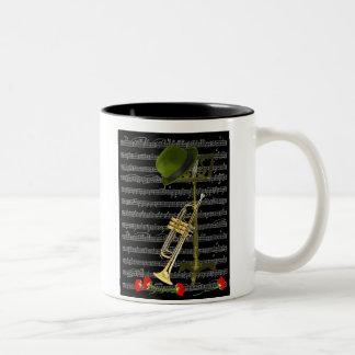 Juegue la música… taza de café de dos colores