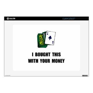 Juegue su dinero 38,1cm portátil calcomanías