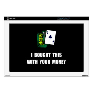 Juegue su dinero 43,2cm portátil calcomanía