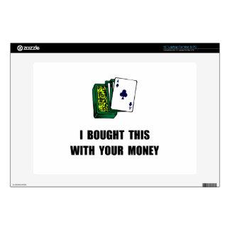 Juegue su dinero portátil calcomanía