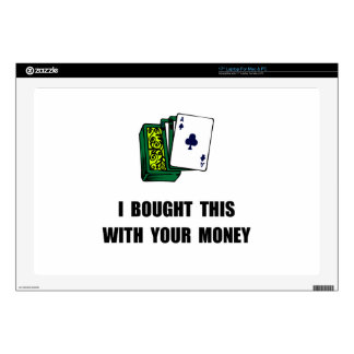 Juegue su dinero skins para 43,2cm portátiles
