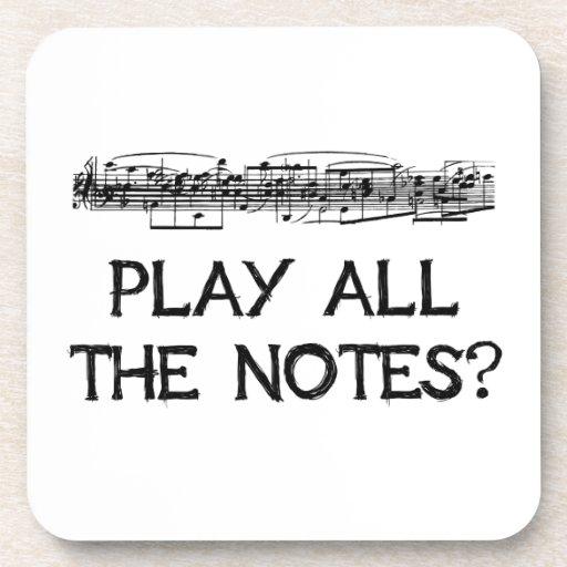 ¿Juegue todas las notas? Posavasos