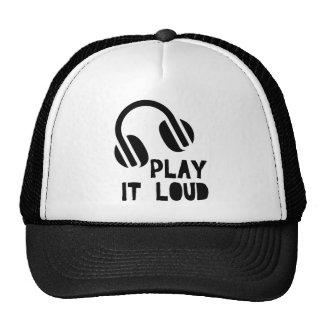 Juegúelo los auriculares ruidosos gorras de camionero