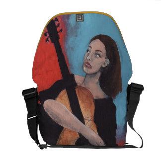 Juegúeme (el chica con la guitarra) bolsas de mensajeria