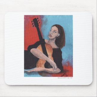 Juegúeme (el chica con la guitarra) tapetes de raton