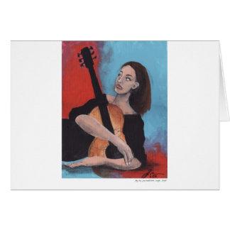 Juegúeme (el chica con la guitarra) tarjeta