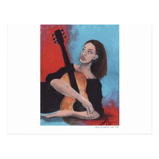 Juegúeme (el chica con la guitarra) postal