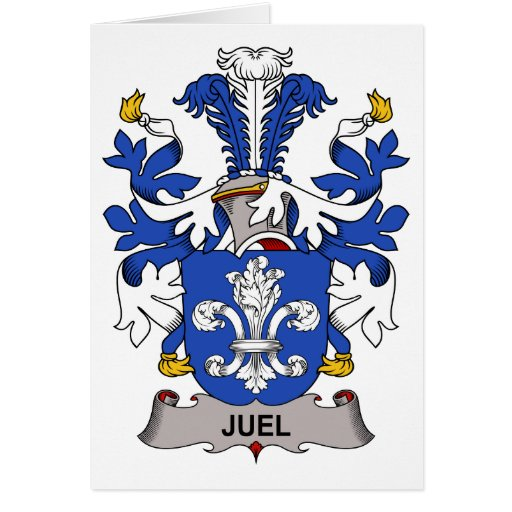 Juel Family Crest Greeting Card