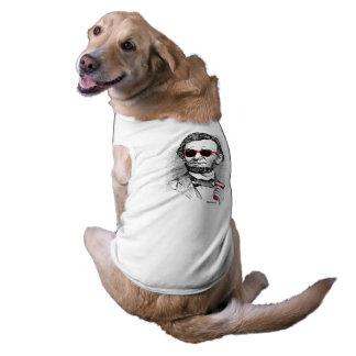 Juerguista de Abraham Lincoln Playera Sin Mangas Para Perro