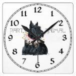 Juerguista de Terrier del escocés Relojes De Pared