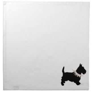 Juerguista de Terrier del escocés Servilletas Imprimidas