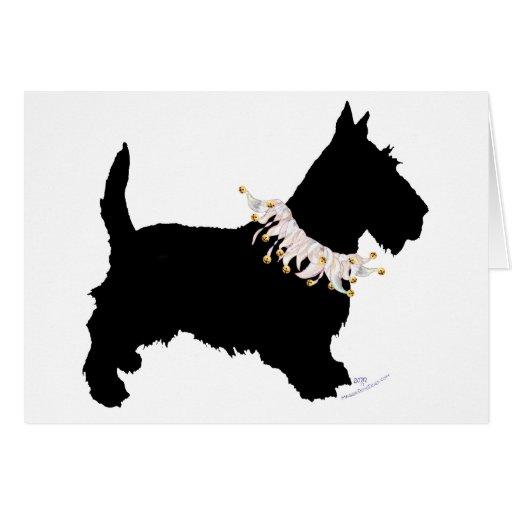 Juerguista de Terrier del escocés Tarjeta De Felicitación