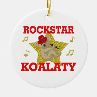 Juerguista del canto de Rockstar Koalaty Adorno Navideño Redondo De Cerámica