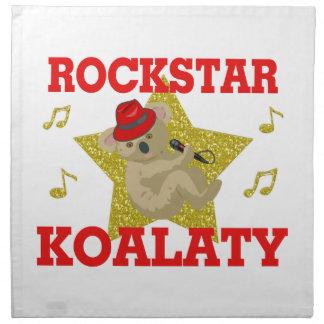 Juerguista del canto de Rockstar Koalaty Servilleta