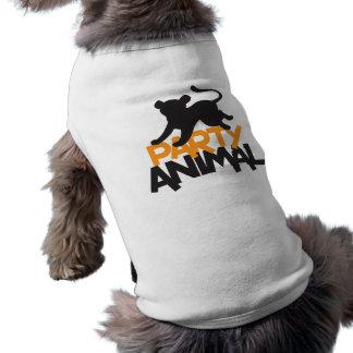 ¡Juerguista! salto del gato Playera Sin Mangas Para Perro