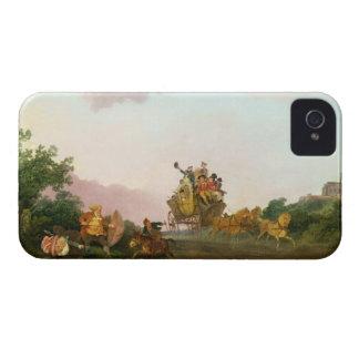 Juerguistas en un coche, c.1785-90 (aceite en iPhone 4 Case-Mate carcasas