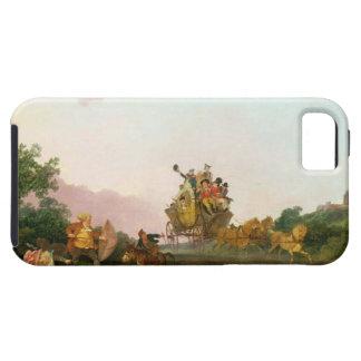 Juerguistas en un coche, c.1785-90 (aceite en lona iPhone 5 carcasas