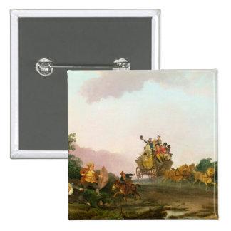 Juerguistas en un coche, c.1785-90 (aceite en lona pin cuadrada 5 cm