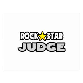 Juez de la estrella del rock tarjeta postal