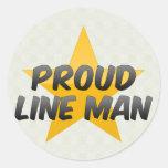 Juez de línea orgulloso pegatina redonda