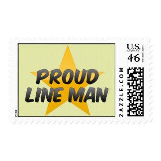 Juez de línea orgulloso sellos