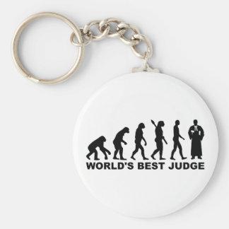Juez del mundo de la evolución el mejor llavero redondo tipo chapa