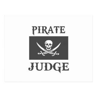 Juez del pirata tarjeta postal