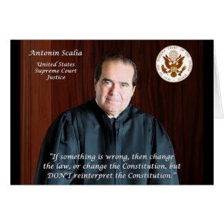 Juez del Tribunal Supremo Antonin Scalia Tarjeta De Felicitación