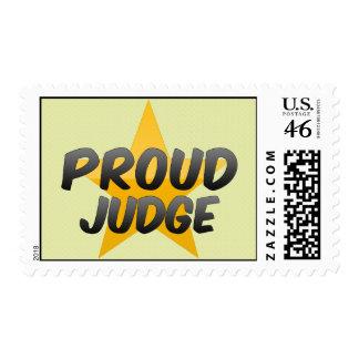 Juez orgulloso sello