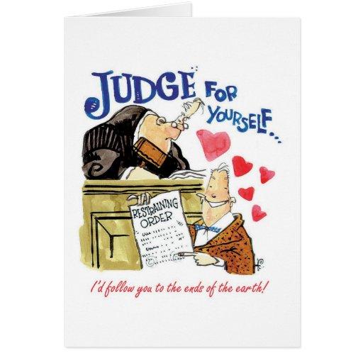 Juez para sí mismo tarjeta