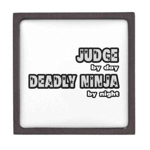 Juez por el día… muerto Ninja por noche Cajas De Joyas De Calidad