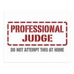 Juez profesional postales
