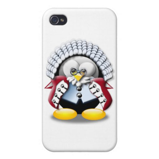 Juez Tux de Británicos iPhone 4 Protector
