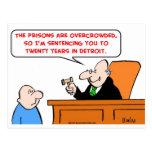 juez veinte años de Detroit Tarjeta Postal
