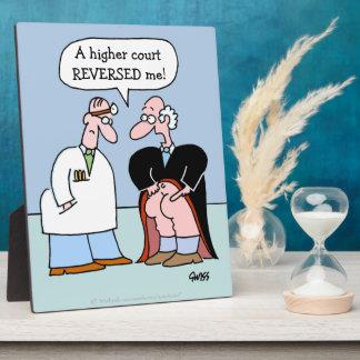 Juez y el doctor Cartoon para los abogados Placas Con Foto