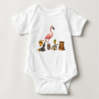 Jug Band O' Birds Baby Bodysuit