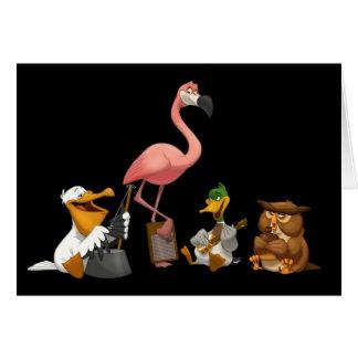 Jug Band O' Birds Card