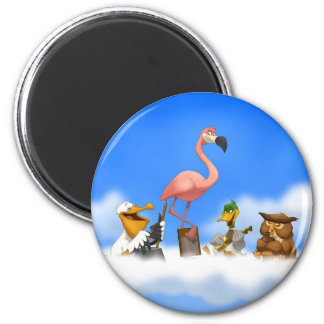 Jug Band O' Birds Magnet
