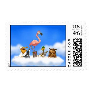 Jug Band O' Birds Stamps