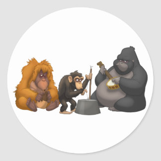 Jug Band of the Apes Stickers
