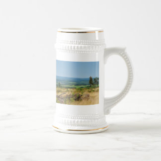 Jug landscape in the winner country, cold oak beer stein