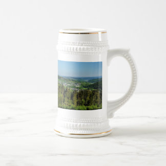 Jug landscape in the winner country, Hainchener Beer Stein