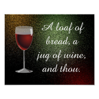 Jug of wine, and thou - art print
