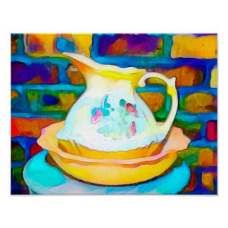Jug Still Life - Watercolor Print