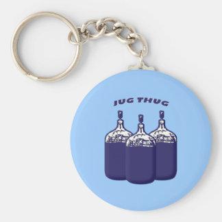 Jug Thug Basic Round Button Keychain