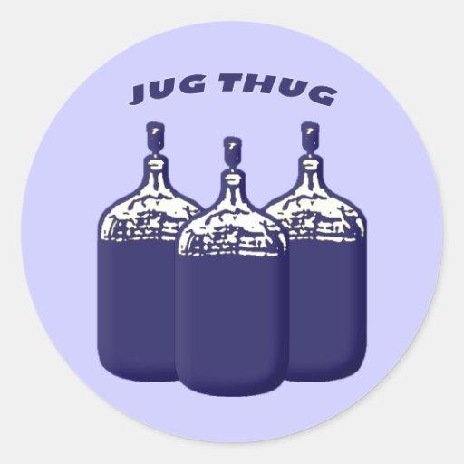 Jug Thug Classic Round Sticker