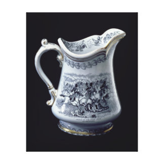 Jug with a depiction of the Charge of the Scots Canvas Print