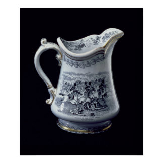 Jug with a depiction of the Charge of the Scots Poster